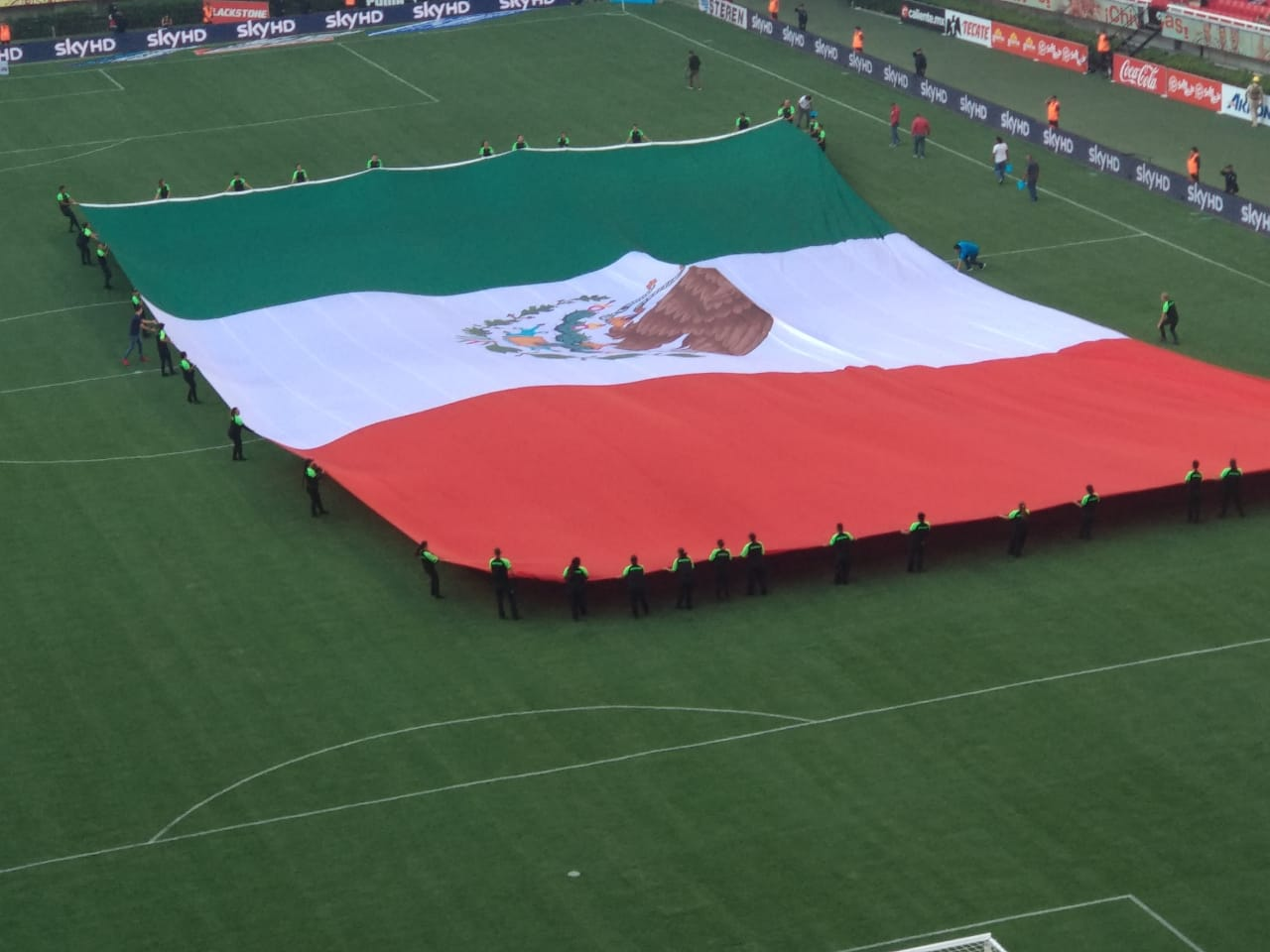 bandera mexico estadio